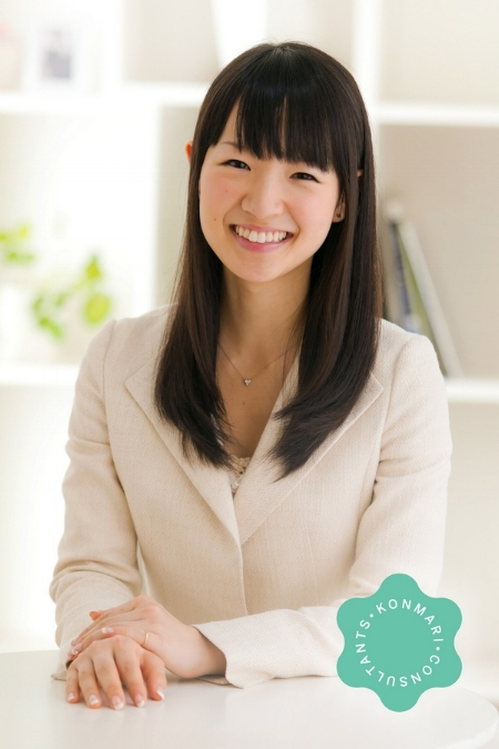 "Marie Kondo ""KonMari"", author of ""The Life Changing Magic of Tidying Up"""