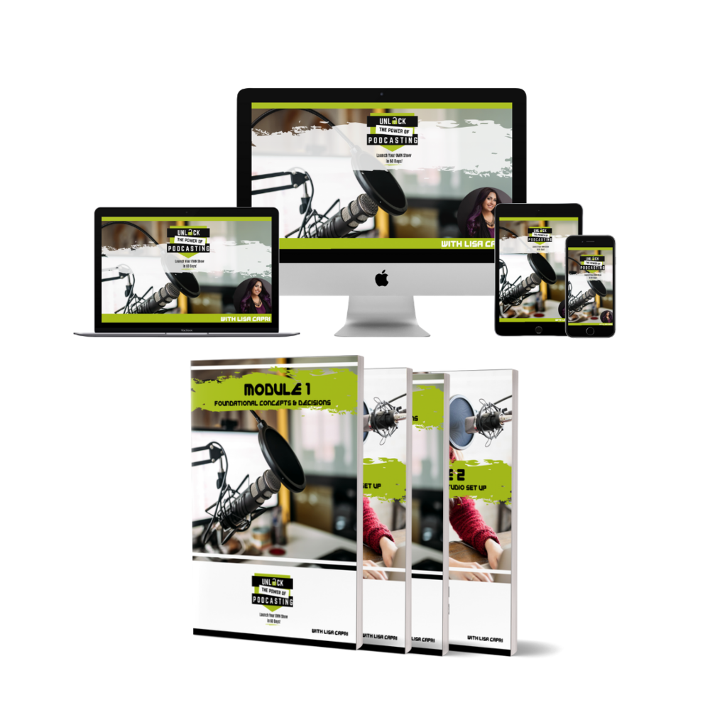 Each module has its own companion workbook - Each workbook walks you through the material you're learning in your video tutorials, reinforcing concepts and helping you make exciting decisions about your own show!