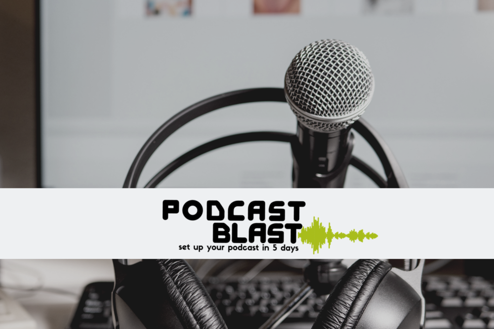 A  FREE  five-day training challenge to cover all the essentials in launching your own podcast!