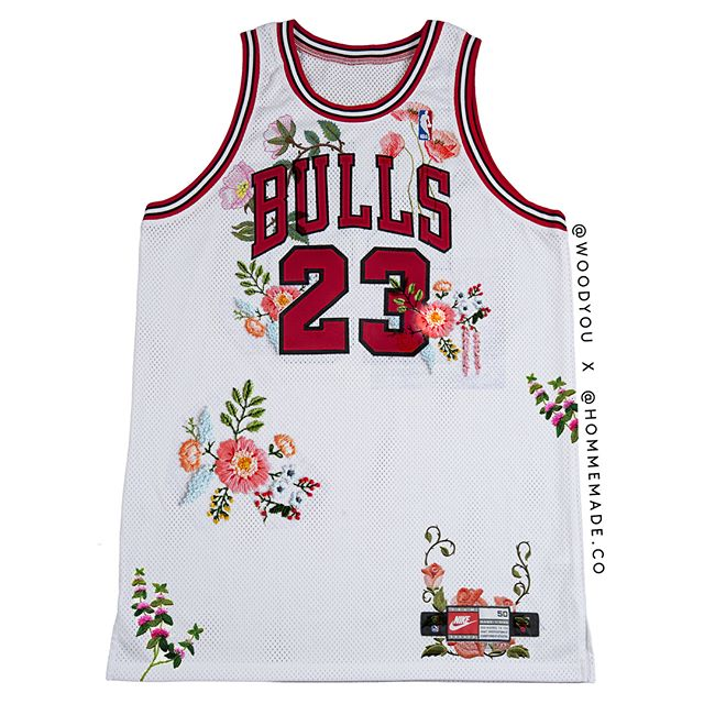 Custom Michael Jordan jersey.  Authentic only.  DM for inquires on custom jerseys