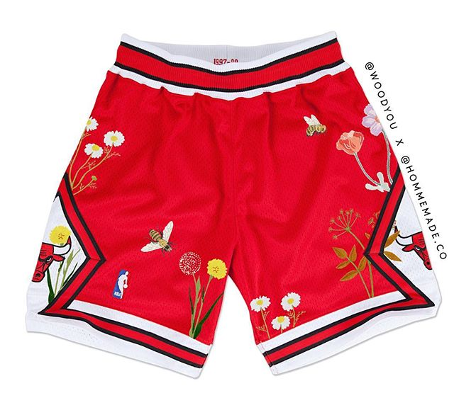 custom embroidered Chicago Bulls shorts #WEBALLDIFFERENT DM to inquire about a custom pair