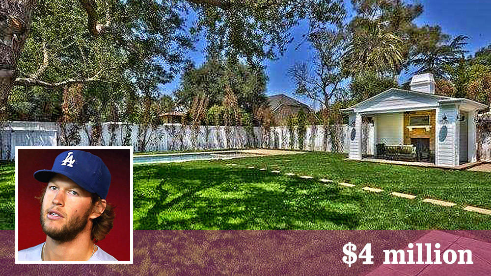 Clayton Kershaw picked up a house in Studio City for $4 million. (Realtor.com | Inset: Getty Images)