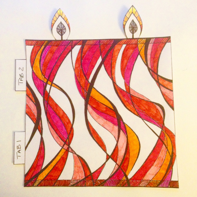 Mindful Colouring-In: Christmas Candle Decoration colour wendy ann greenhalgh
