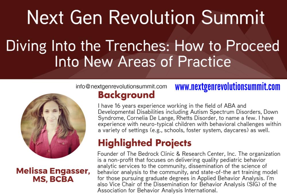 Next Gen Revolution Summit - Behavior Analysis like You've Never Experienced