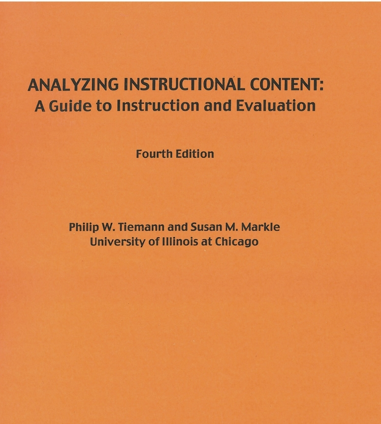 Analyzing Instructional Content: A Guide to Instruction and Evaluation - Click to Purchase through Morningside Press