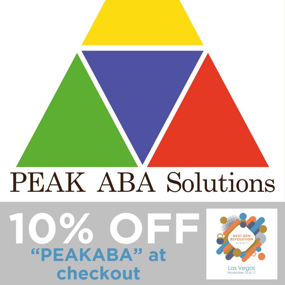 Sponsor: PEAK ABA SOLUTIONS