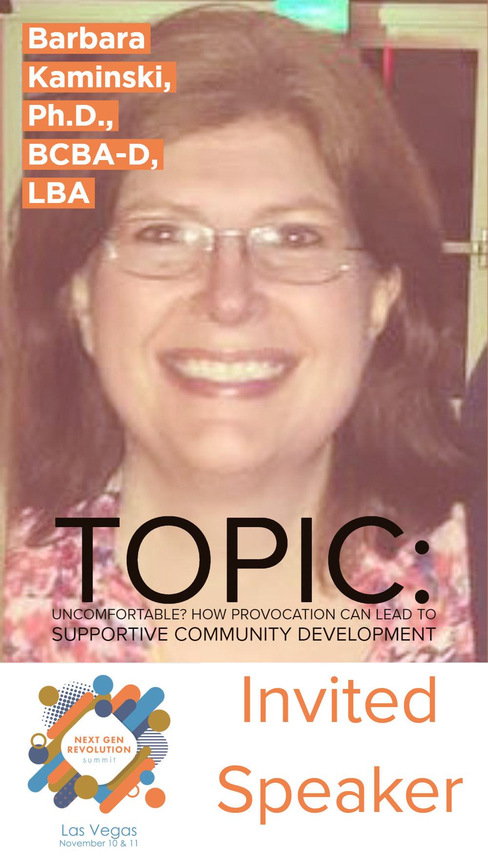 Barbara Kaminski, Ph.D., BCBA-D, LBA
