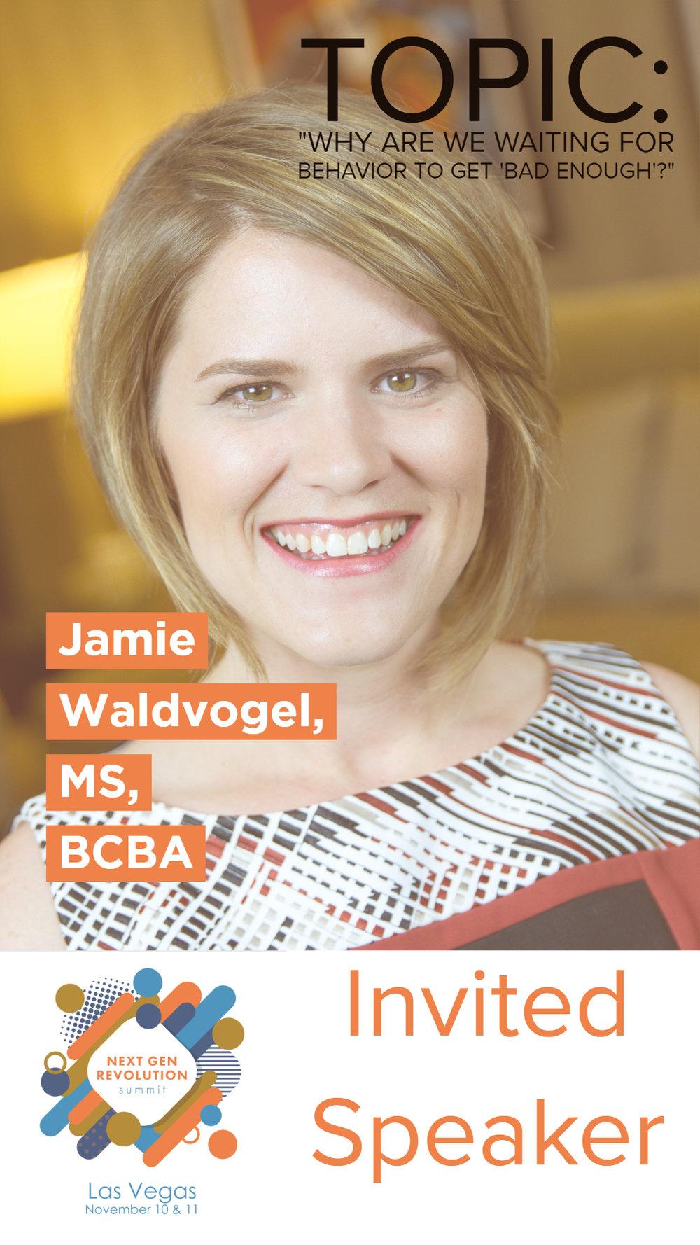 Jamie Waldvogel, MS, BCBA