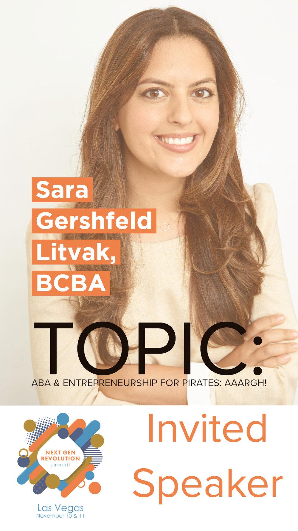 Sara Gershfeld Litvak, BCBA