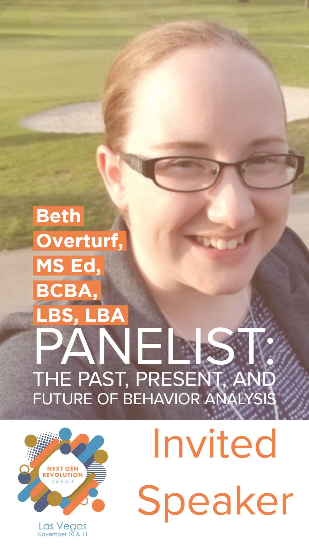 Beth Garrison, MS.Ed., BCBA, LBS, LBA