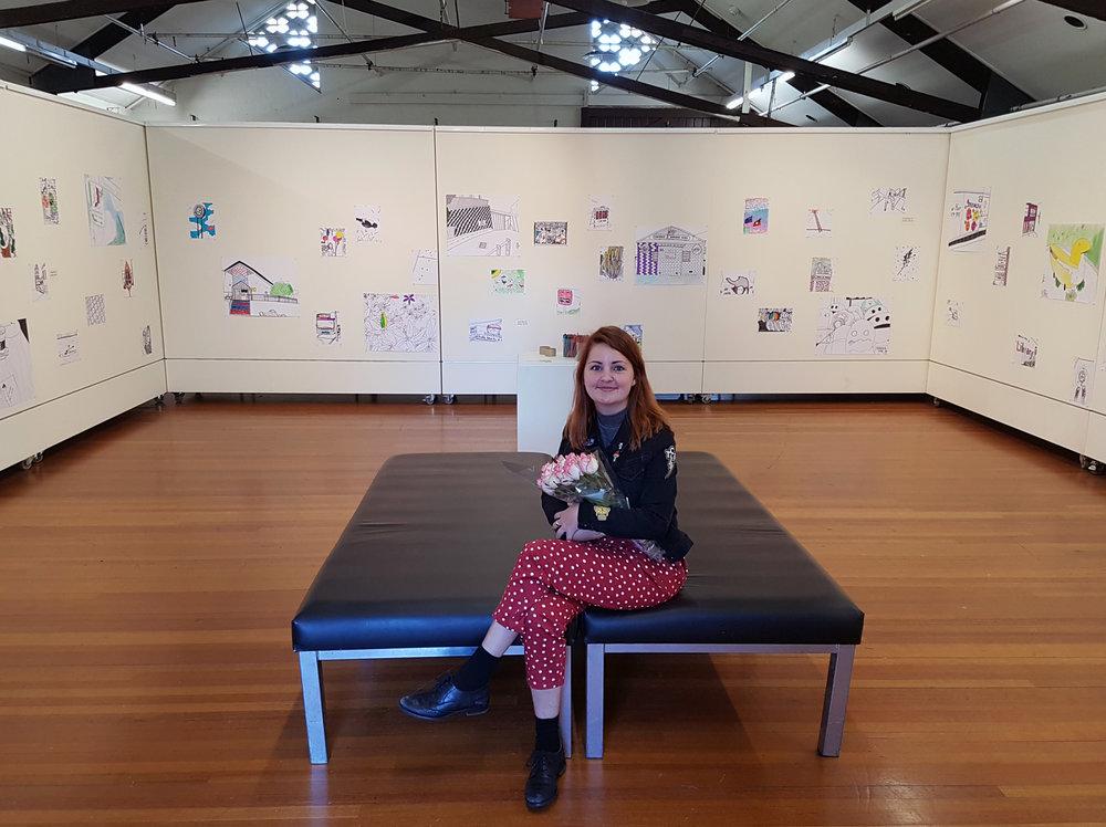Tegan Iversen 'Colour in our City' in gallery.jpg