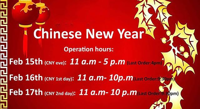 Celebrate Chinese New Year here at Ginza Bairin ION!!!We're open to serve u!!