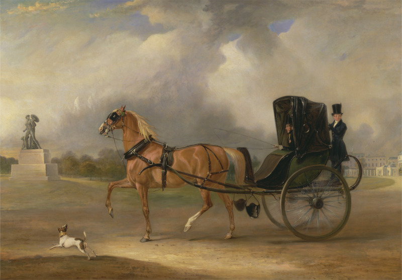 Cabriolet-William Massey-Stanley driving his Cabriolet in Hyde Park, 1833-ycba.jpg