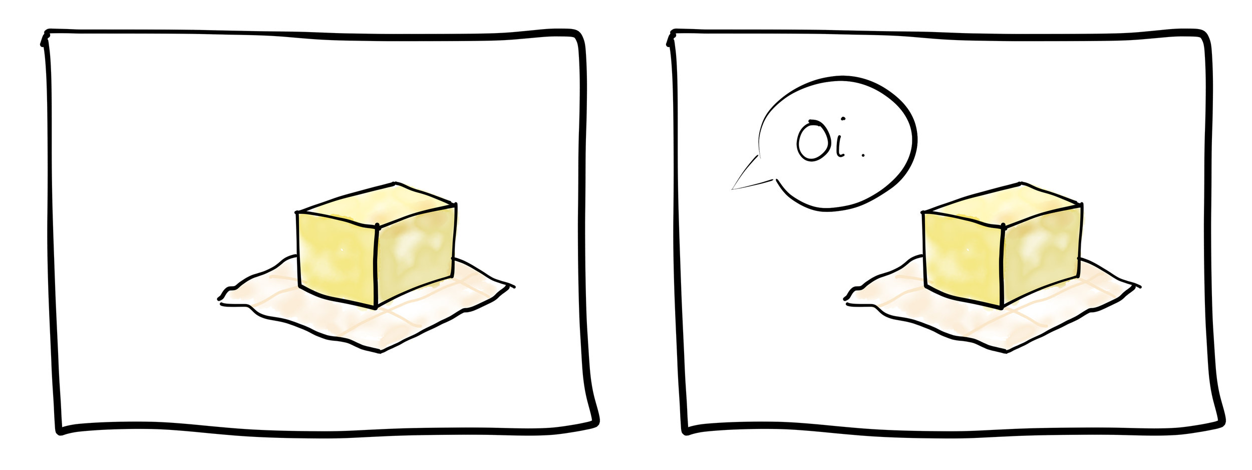 A comic strip about butter