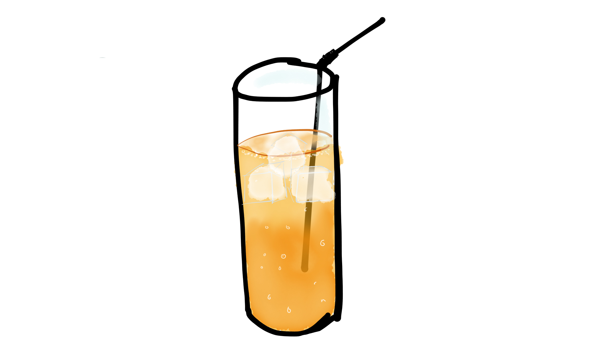 Orange juice and lemonade
