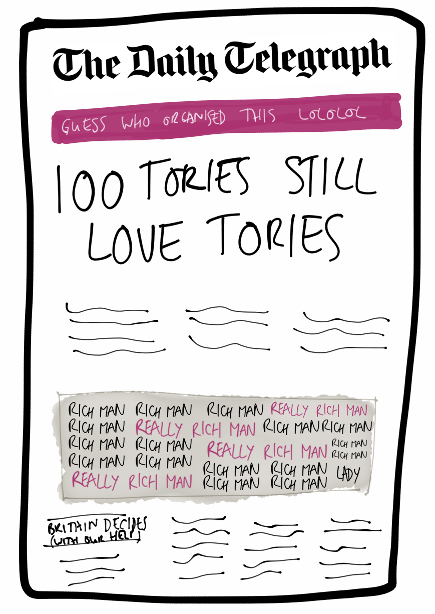 Telegraph hearts Tory nonsense