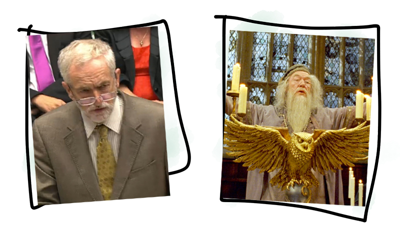 Professor Dumbledore and Jeremy Corbyn