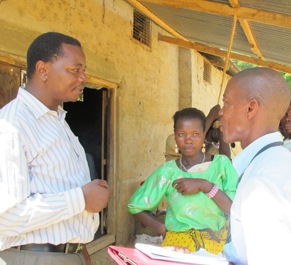 Fidelis Rutatina, Managing Director at Novel Development Tanzania Ltd (on the left)