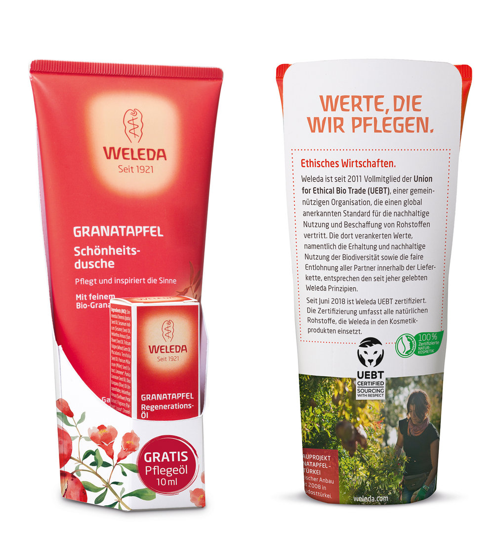 Weleda's products with UEBT label