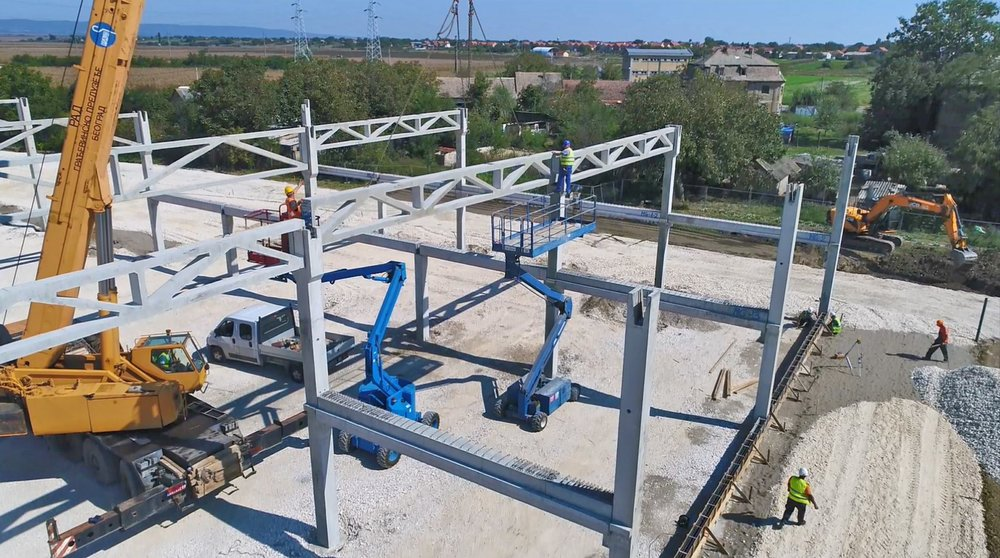 RC MOUNTING BEAMS - DETAIL: CONSTRUCTION OF 'DAG&CO, VOGANJ  2018