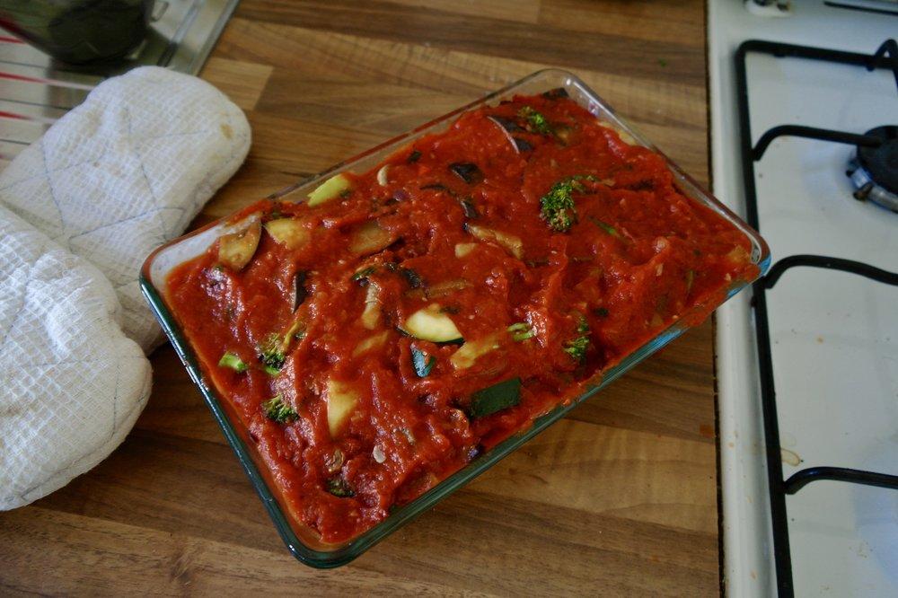 Veggie Tomato Bake