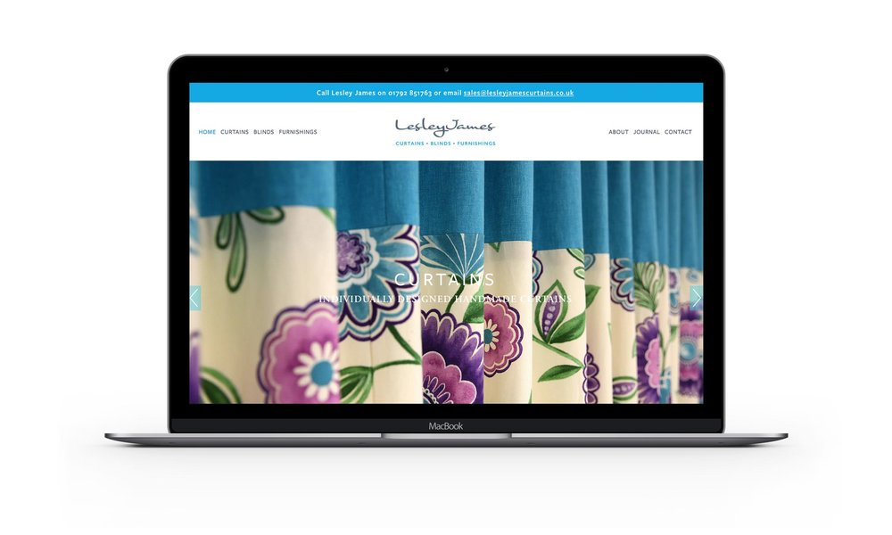 Lesley James home page