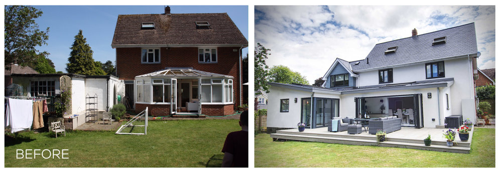 Before & After - Rear Elevation