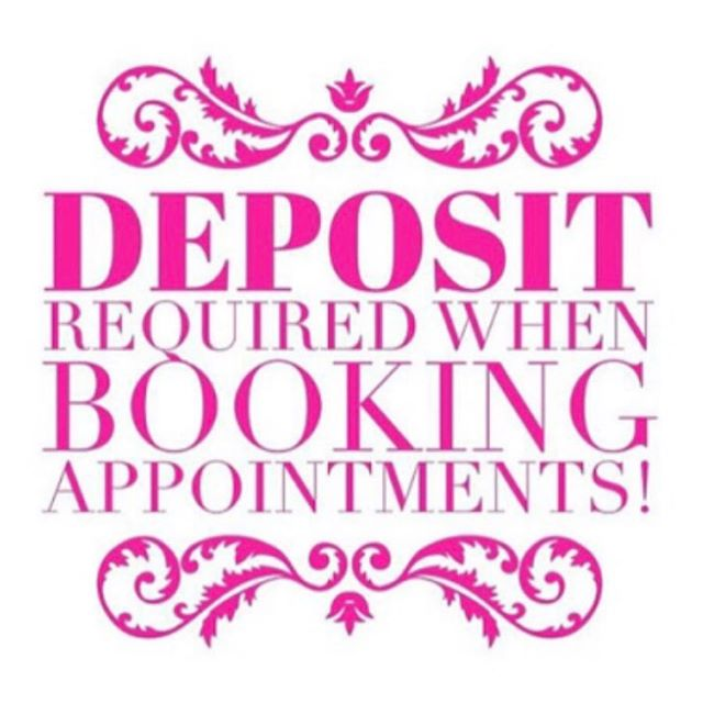 D E P O S I T S  R E Q U I R E D - An important message to all of our lovely clients, as we are becoming busy very quickly we will now be taking a 20% deposit for all future bookings to ensure our days are not being put out from any cancellations. We hope you understand our new policy and if you have any concerns regarding this please contact the salon directly on 0420 238 414 💕