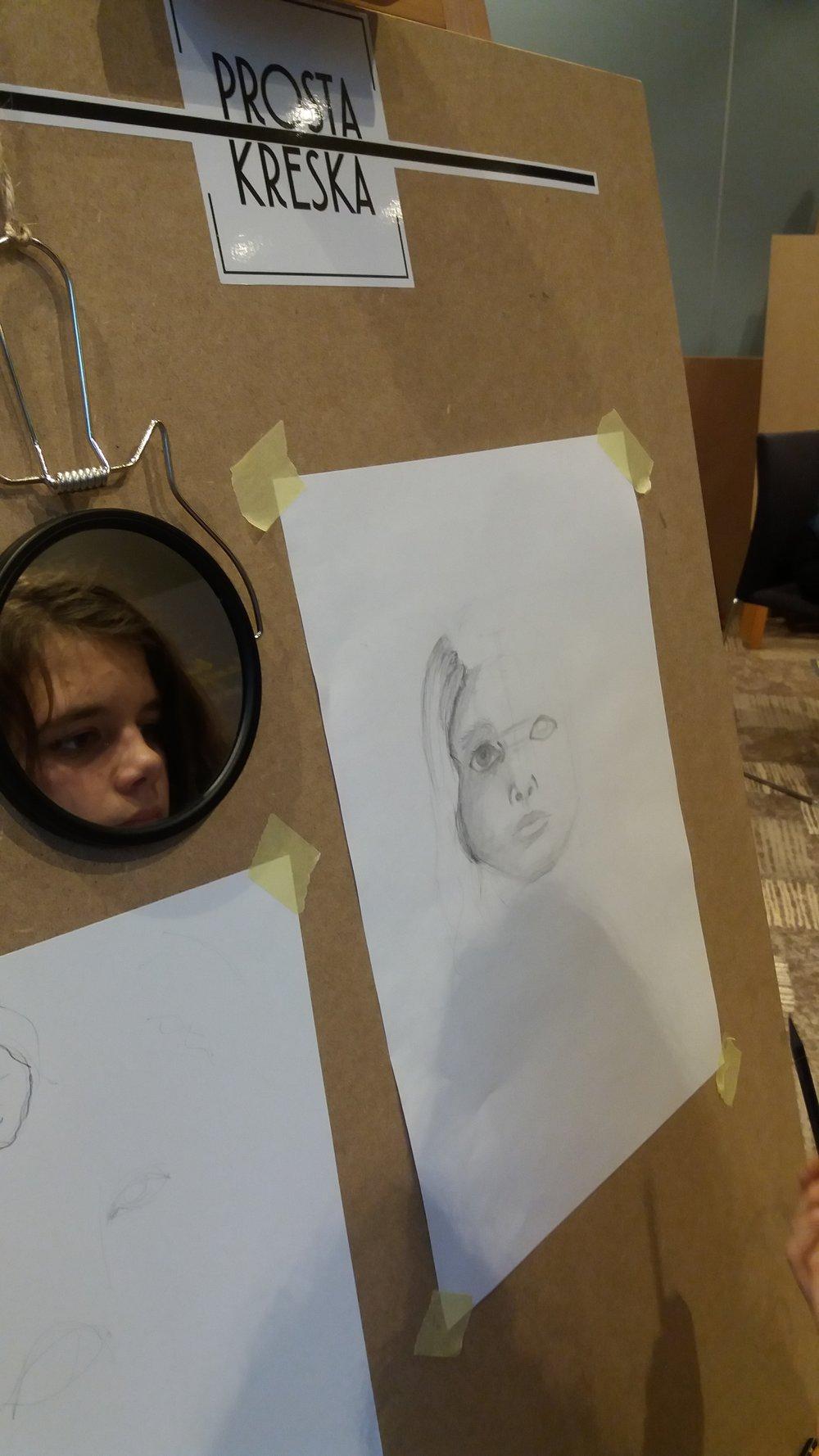 Podstawy rysunku - autoportret