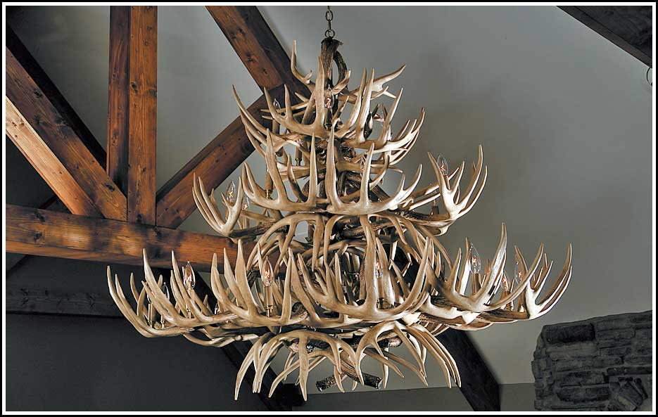 The Grand Teton Whitetail Antler Chandelier