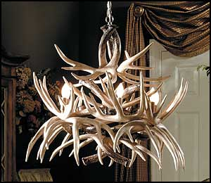 The Cascade Whitetail Antler Chandelier