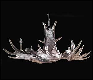 The Manitobia Moose Antler Chandelier
