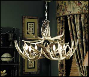 The Teton Whitetail Antler Chandelier