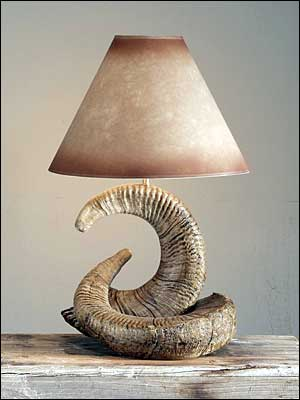 Rocky Mountain Ram Lamp