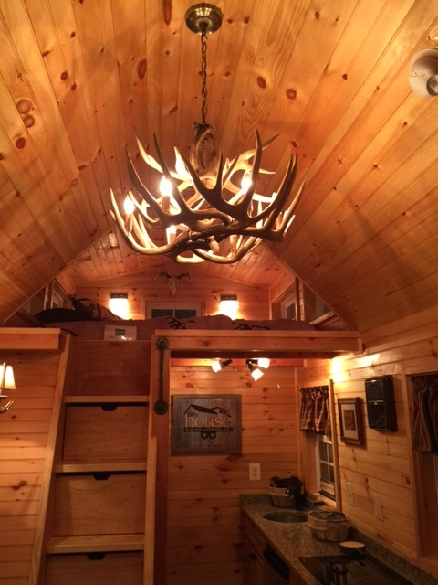 Our Teton chandelier was featured in Tiny House VA.