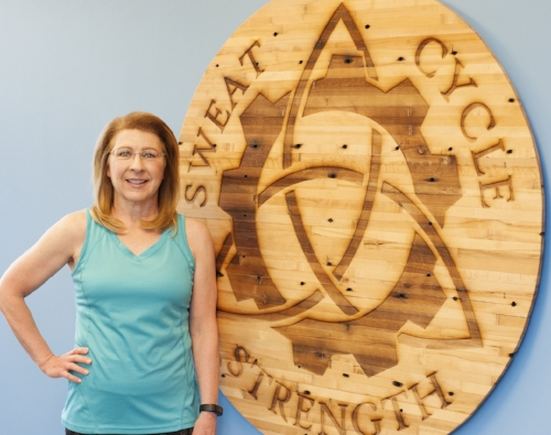 Rexann Legler - I have always been an active person.  Dancing (tap, ballet, and jazz) was a big part of my life growing up, and I continued to be involved in dance with my daughters until they graduated from high school.  Then osteoarthritis in my hips slowed me down.   I started taking Pilates classes to build strength that I had lost and to help manage the pain. I eventually had surgery on my hips which eliminated my pain and opened up new options for exercise.  I continued with Pilates and began indoor cycling classes as a way to burn calories to lose some weight.  I fell in love with cycling!  I found it provided the opportunity to push myself and challenge my limits.  I find the music motivating, and it feels like dancing on a bike!  As I continued to make Pilates and cycling a regular part of my life I found I had more energy, I lost weight, and my health improved.  It continues to be a journey, and I enjoy sharing what I love to do by teaching classes.