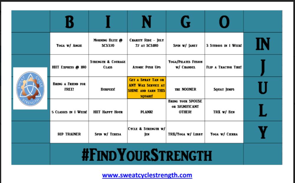 Bingo in July -