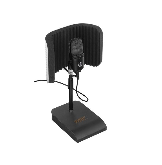 Auray Desktop Reflection Filter and Mic Stand