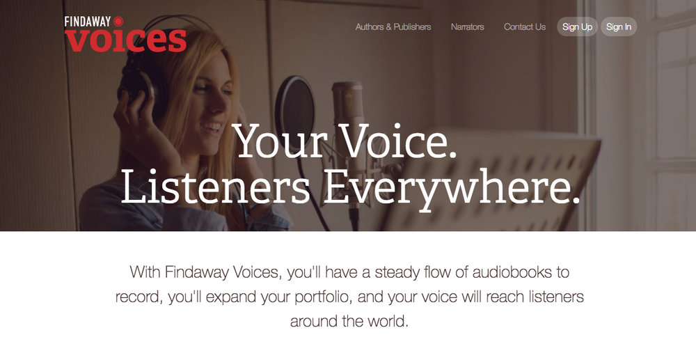 Findaway Voices Audiobook Narrators