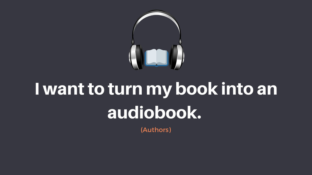 turn book into audiobook