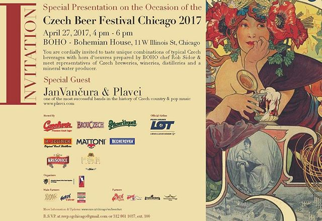 We are beyond excited to be a part of the Czech Beer Festival in Chicago 2017! 🍺🇨🇿#pragabeer #premiumpils #czechbeer #pragapils