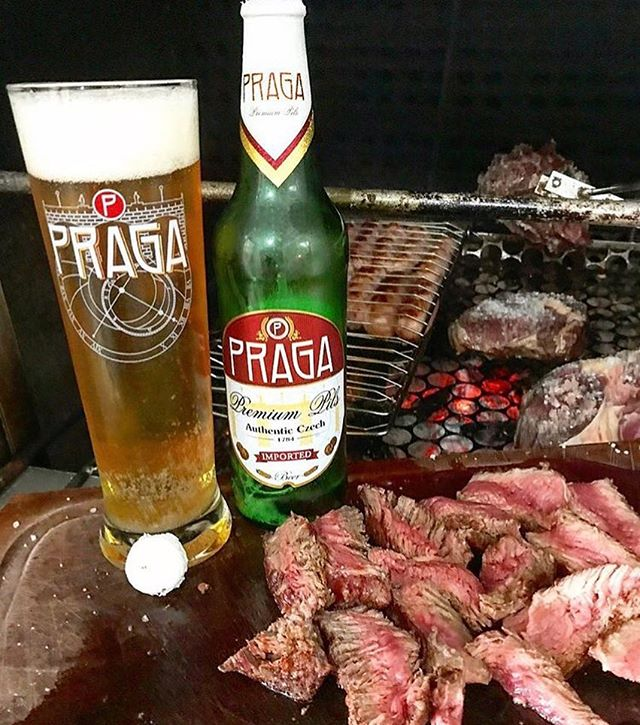 Nothing tastes better with a BBQ than beer! Why not make it a Praga! #praga #pragapils #czechbeer #pragabeer