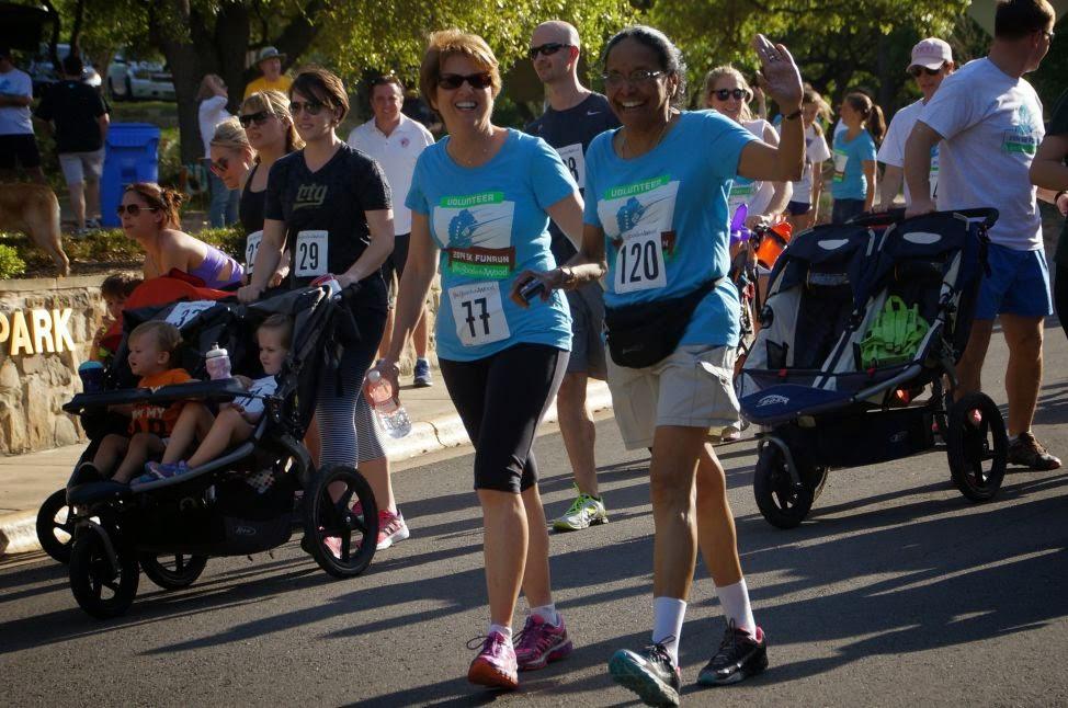 2014 run/walkers Sandra Farrel and Shanthi Jayakumar