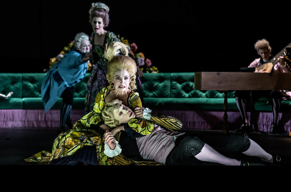 0252 William Berger as Aristobolo, Rachael Lloyd as Selene, Claire Booth as Berenice, James Laing as Demetrio (C) ROH 2019. Photographed by Clive Barda.jpg
