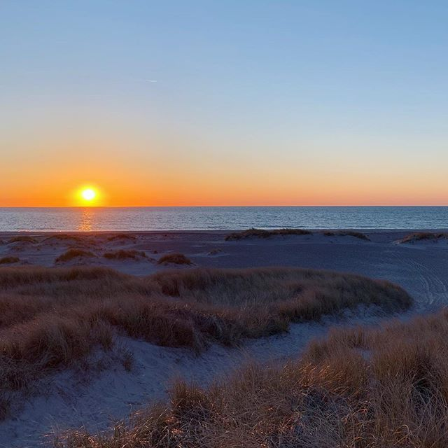 A perfect ending on a beautiful day ☀� #nordichome #nationalparkthy #vacationhome #sunset #danishnature