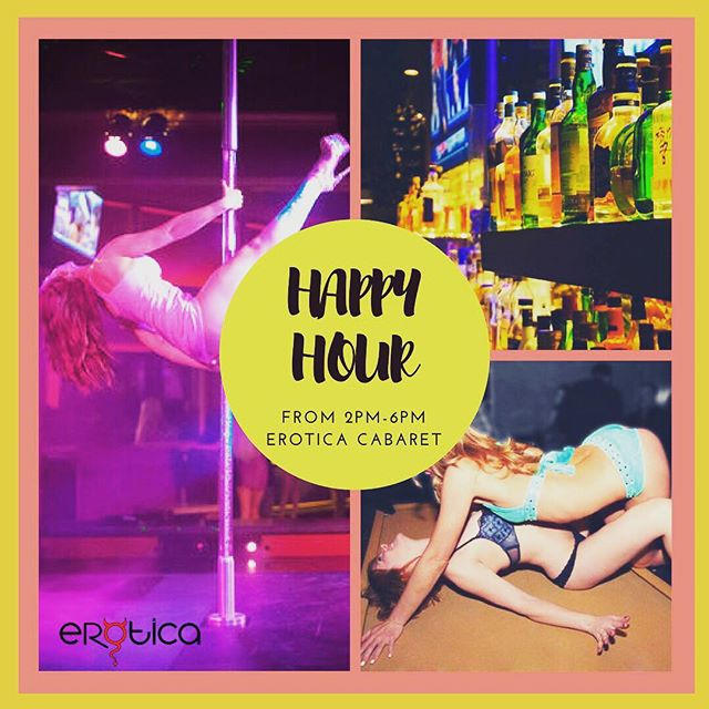 Join us for Happy Hour, our friendly staff will be waiting for you! Reservations: www.eroticacabaret.com  #adultentertainment #music #dancers #stripclub #twerk #miami #sexy #share #miaminightlife #eroticacabaret #cocktails #whiskey #party #nofilter #lit #girls #adult #strippers