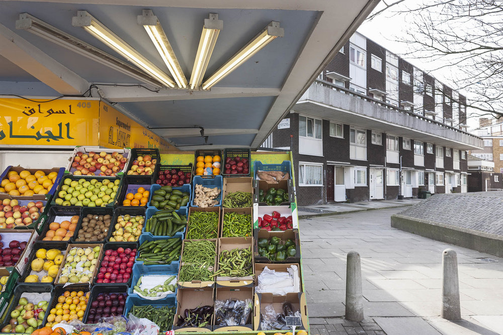 Fruit & vegetable stall, Edgware, London.