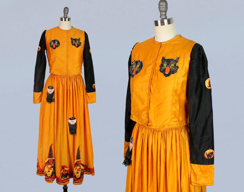 Halloween skirt and top set, 1920s-1930s