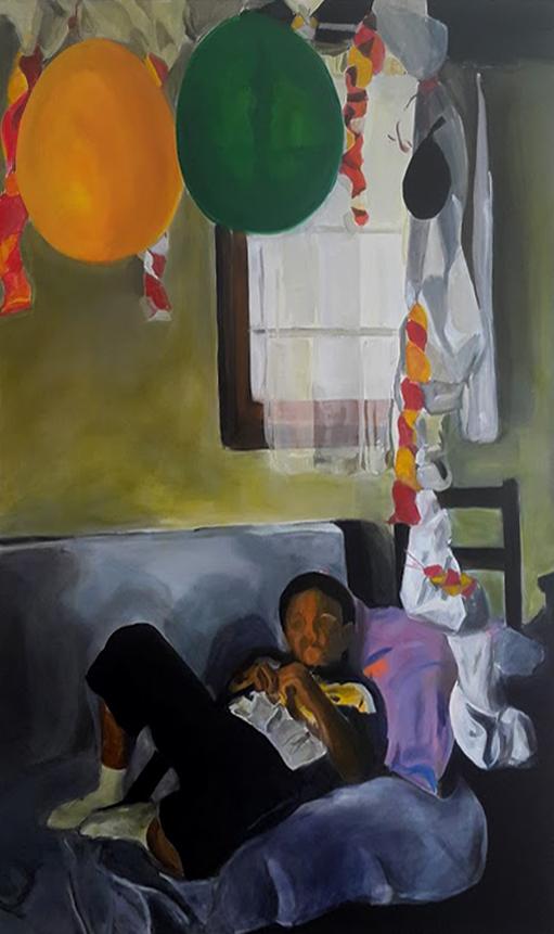 Sünnet, 180 cm x 130 cm, oil on canvas, 2016