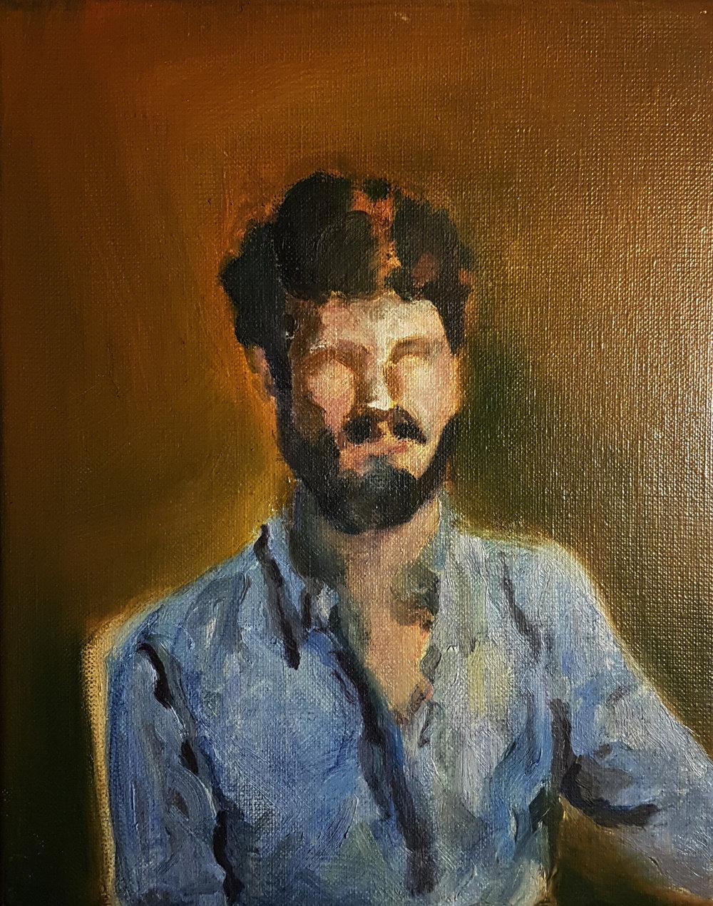 Self Portrait, 2016, oil on canvas